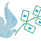 Michael Austin - Communication, Dove, Election, Facebook, Olive Branch, Peace, Politics, Social Media, Social Network, Twitter
