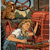 John Kachik - Agriculture, Animals, Books, Children, Children's Book, Editorial, Family, Line & Wash, Machinery, Retro, Tween, Young Adult